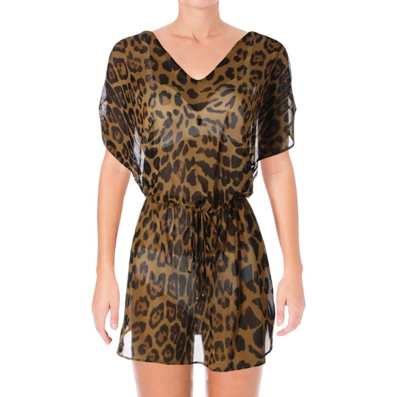 e075057b793e7 Ralph Lauren Swim | Leopard Print Cover Up | Poshmark